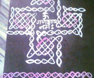 Rangoli: Maa kolam for Ganesh Chaturthi