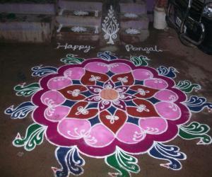 pongal free hand kolam