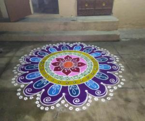 Purple rangoli