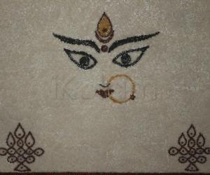 Rangoli: Devi lentil rangoli