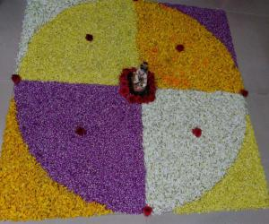 Rangoli: Onam celebration in our house