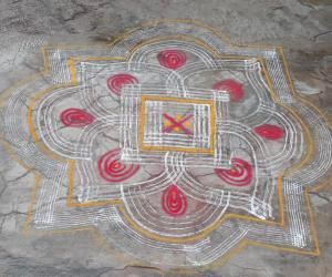Rangoli: Summer Vacation kolams 2
