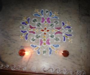 Rangoli: Butter flies