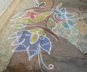 Rangoli: free hand kolam 30