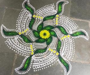 Rangoli: Navarathri  Day 2