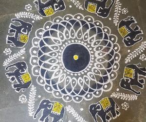 Rangoli: Navarathri  Day 3