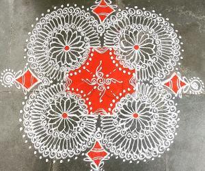 Rangoli: Navarathri Day 4