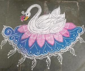 Rangoli: Navarathri day 5