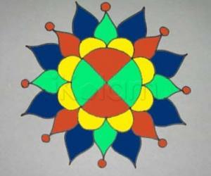 Rangoli: simple rangoli on tiles