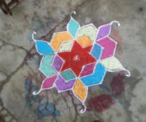 Rangoli: star