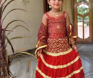 Best dressed - Navaratri Lehenga or Pattu pavadai contest for girls ages 1 to 12.