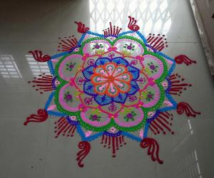 Rangoli: multicoloured freehand