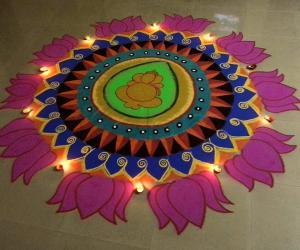 Rangoli: vinayagar chathurthi