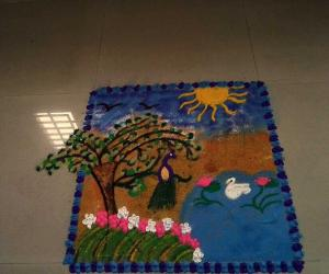 Rangoli: behind the drizzles