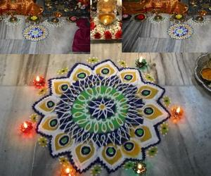 Rangoli: navarathri 5