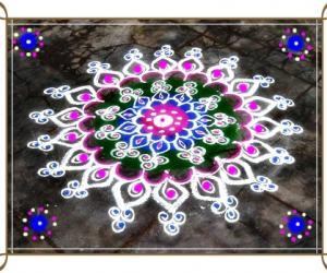 Rangoli: Happy b'day Raja