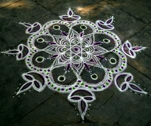 Rangoli: happy karthigai
