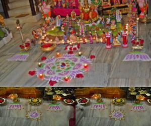 Rangoli: saraswathi pooja