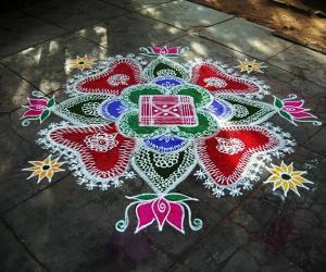 Rangoli: marghali 17