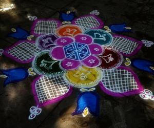 Rangoli: merry xmas