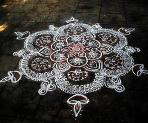 Rangoli: happy tamill new year