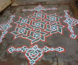Republic day kolam