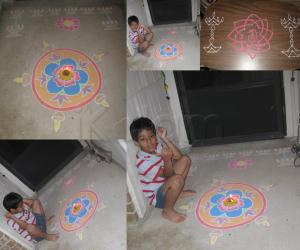 Freehand Diwali Rangoli 2011