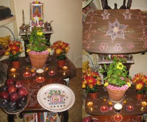 Rangoli: Tulasi Pooja November,2011