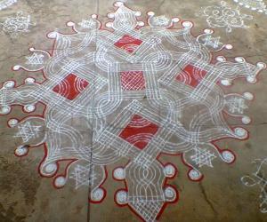 Rangoli: mazhai kolam