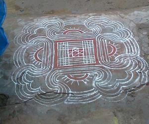 Rangoli: aadi tuesday kolam