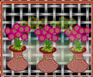 Rangoli: Hanging flower pots