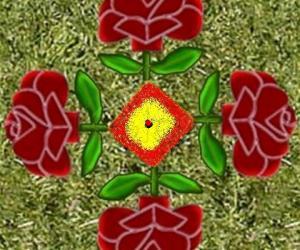 Rangoli: rose flowers