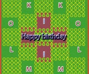 Rangoli: Happy birthday ikolam