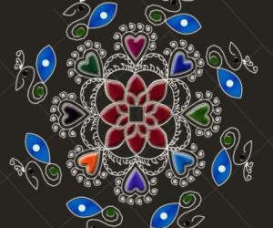 Rangoli: Return gift to uma.