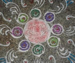 Rangoli: ram navami 2012