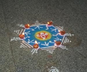Rangoli: Naraka Chaturdashi 2011