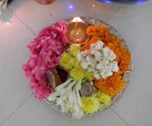 aarthi plate for navratri