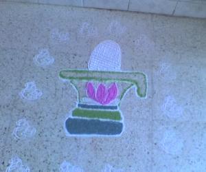 Rangoli: Rudrasha Shivalingam - Shivaratri 2012