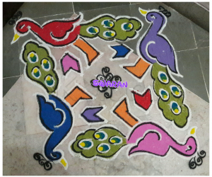Margazhi day 2 peacock kolam