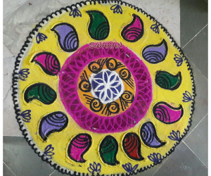 Rangoli: Margazhi day 3 freehand