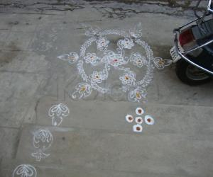 Rangoli: small design done on ugadi