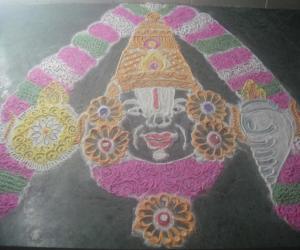 Lord venkateshwara kolam