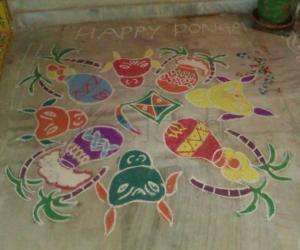 happy pongal  2012 rangoli