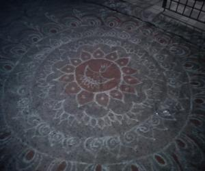 my kolam on diwali