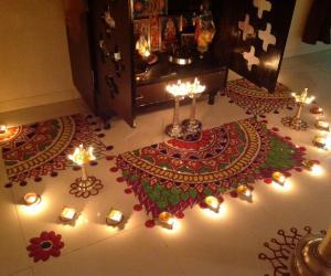 Rangoli for Karthigai festival