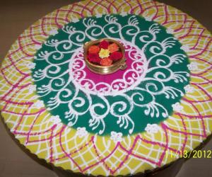 Rangoli: Rangoli on Diwali