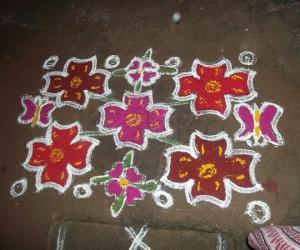 new year kolam - neighbour