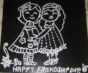 Rangoli: happy friendshipday!