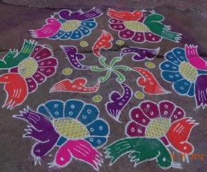 Rangoli: My First Rangoli in Ikolam