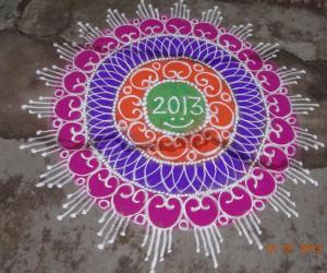 Rangoli: Happy New Year friendz:)